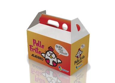 Caja tipo Maletin picnic o pollo