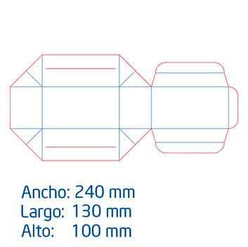 Caja Tipo Cofre Grande  full color
