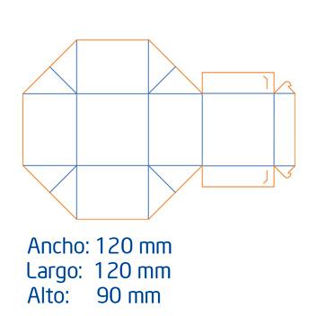 Caja Tipo Cofre Mediana full color