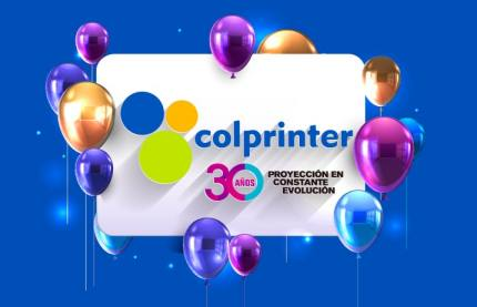 Colprinter celebra sus 30 años de trayectoria resaltando la calidad y compromiso.