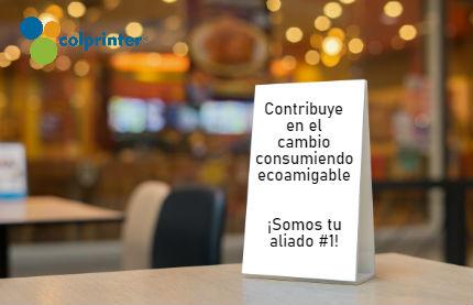 Los habladores en cartón son el complemento perfecto en los eventos empresariales ya que comunican de manera estratégica.